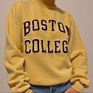 yellow boston college sweater